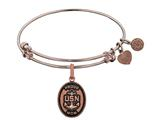 Brass with Pink Finish Proud Mom U.S. Navy Oval Angelica Expandable Bangle style: PGEL1314
