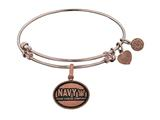 Brass with Pink Finish U.S. Navy Honor. Courage. Commitment. Angelica Expandable Bangle style: PGEL1320