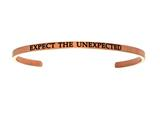 "Intuition Stainless Steel Pink Finish ""expect The Unexpected""Cuff Bangle style: PINT5066"