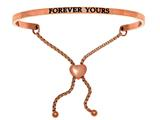 "Intuition Stainless Steel Pink Finish ""forever Yours""adjustable Friendship Bracelet style: PINT7072"