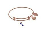Brass With Pink Finish Charm On Pink Angelica Collection Tween Bangle style: PTGEL9102