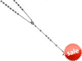 26 inches Silver Black Rhodium 5MM Rosary Bead Necklace style: 460040