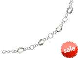 Sterling Silver 7.5 Inch Oval Link Bracelet style: 460054