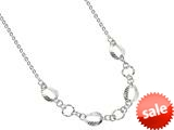 Sterling Silver 18 Inch Oval Links Necklace style: 460055