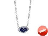 Sterling Silver 18 Inch Evil Eye Necklace