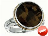 Phillip Gavriel Sterling Silver and 18k Smokey Quartz Ring style: 460076