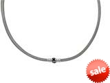 Sterling Silver 7.5 Inch Hollow Wire Bead Bracelet With Magnetic Clasp