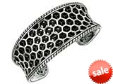 Sterling Silver Honeycomb Texturized Cuff Bangle style: 460108