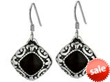 Electroform Earrings Coated with Black Onyx and Textured Design