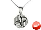 Polished Love Knot Pendant on 18 Inch Chain style: 460120