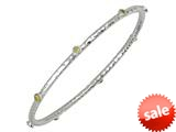 Phillip Gavriel 7.25 Inch Hammered Stackable Slip On Rhodium Bangle With Peridot Stones style: 460128