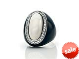 Phillip Gavriel Agate Cocktail Ring Surrounded by White Sapphires style: 460133