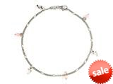 10 Inches 3 Dolphin Ankle Bracelet with Simulated Stones style: 460142