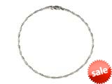 Sterling Silver 10 Inches Ankle Bracelet style: 460153