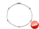 Sterling Silver 10 Inches 5 Hearts Ankle Bracelet style: 460176