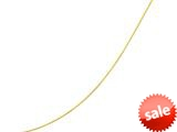 14kt Yellow Gold 16 Inch Bright Cut Round Omega Necklace with Screw off Lock and Pear Shape Clasp style: 460197