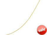 14kt Yellow Gold 18 Inch Diamond Cut Round Omega Necklace with Screw off Lock and Pear Shape Clasp
