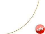 14kt Yellow Gold 18 Inch Diamond Cut Round Omega Necklace with Screw off Lock and Pear Shape Clasp style: 460200