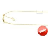 14K Yellow Gold 22 Inch Diamond Cut Adjustable Octagon Chain with Lobster Clasp and Small Heart Charm