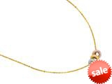 14K Yellow Gold Three Multi Color Charms on an 18 Inch Chain style: 460267