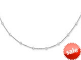 """14K White Gold 10 Inch CZ""""s by the Yard Anklet with Lobster Clasp style: 460325"""