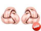 14kt Pink Gold Small Love Knot Earrings 6.5mm style: 460360