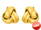 14kt Yellow Gold Small Love Knot Earrings 6.5mm style: 460362