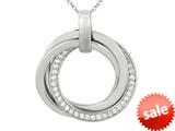 Sterling Silver Cubic Zirconia Circle Rings Ladies Pendant style: 460377