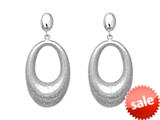Sterling Silver Textured Diamond Dust Earrings style: 460383
