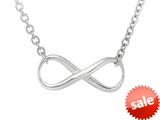 Sterling Silver Infinity Shiny Oval Link Ladies Necklace style: 460396