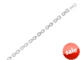 "Sterling Silver 7.25"" Infinity Shiny Link Ladies Bracelet style: 460404"