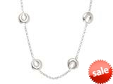 Sterling Silver Rolo Chain with Crescent Moon Links Ladies Necklace style: 460407