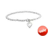 Sterling Silver 3.0mm Shiny bright-cut Stretchable Ladies Bracelet style: 460408