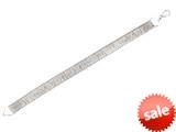 """Sterling Silver 7.25"""" 8.5mm Velvet Omega Shiny Textured Ladies Bracelet style: 460412"""
