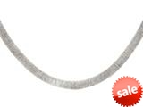 Sterling Silver Shiny Textured Necklace style: 460413