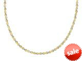 Sterling Silver and Yellow Finish Diamond Cut Necklce style: 460414
