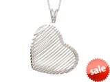 "Sterling Silver Shiny Diamond Cut Heart Bird""s Nest Ladies Pendant style: 460417"