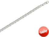 Sterling Silver 8.70mm Shiny Fancy Bismark Link Mens Necklace style: 460429