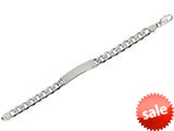 "Sterling Silver 8.5"" 9.25mm Diamond Cut Curb Mens Bracelet style: 460431"
