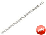 """Sterling Silver 7.25"""" 7mm Panther Ladies Bracelet style: 460440"""