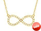 Sterling Silver with Yellow Finish Infinity Shiny Cable Ladies Necklace style: 460459