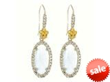Phillip Gavriel Sterling Silver and 18k Yellow Gold Oval Briollette Aquamarine Rock Candy Earrings style: 460478