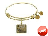 Angelica Collection Brass with Yellow Finish Friends Regina Phalange Expandable Bangle style: GEL1297