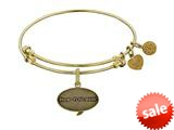 Angelica Collection Brass with Yellow Finish Friends How You Doing Expandable Bangle style: GEL1300