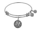 "Angelica Collection Antique White Stipple Finish Brass ""butterfly"" Expandable Bangle style: WGEL1081"