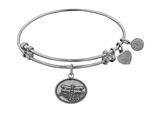 "Angelica Collection Antique White Smooth Finish Brass ""dragonfly"" Expandable Bangle style: WGEL1146"