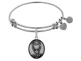 Angelica Brass with White Finish Aim High Daughter U.S. Air Force Expandable Bangle style: WGEL1287