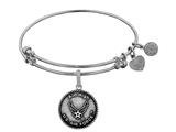 Brass with White Finish Aim High U.S. Air Force Round Angelica Expandable Bangle style: WGEL1288