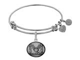 Angelica Collection Brass with White Finish Proud Sister U.S. Air Force Expandable Bangle style: WGEL1291