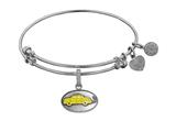 "Angelica Brass with White Finish Friends Phoebe""s Taxi Expandable Bangle style: WGEL1295"
